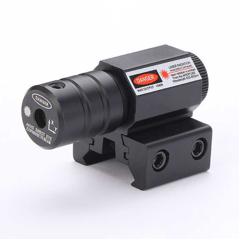 1000M Range 635-655nm Dot Hunting Laser Sight Pistol Adjustable 11mm 20mm Picatinny Rail Hunting Accessory Red Laser Sight