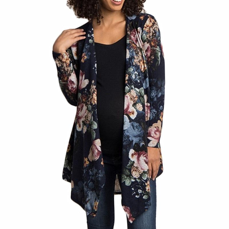 Floral Cardigan Women New Autumn Fashion 2019 Sleeve Irregular Hem Cardigan Vintage Elegant Ladies Top Casual Outwear Sweater