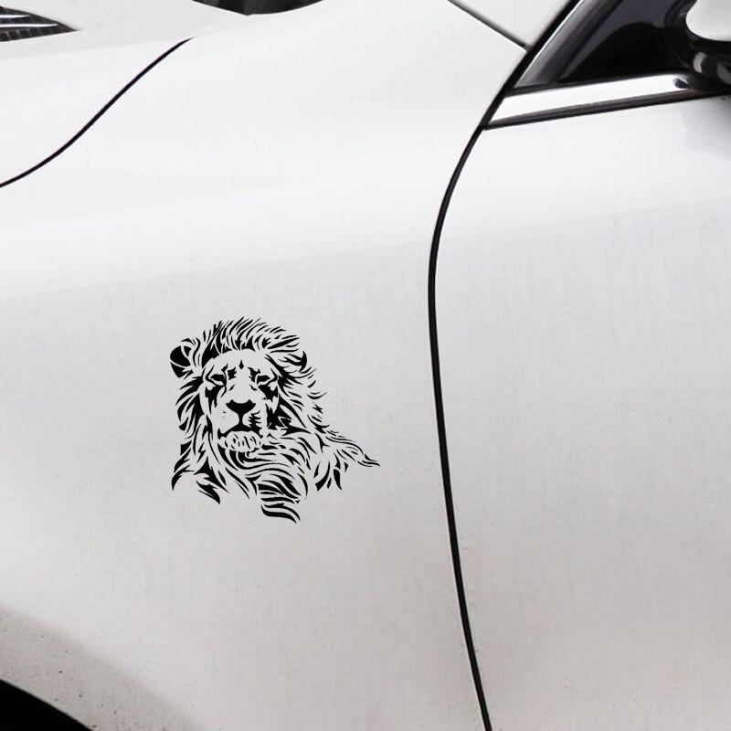 Image 3 - 17,2*17 см Wild Mighty Lion виниловые наклейки для автомобиля в западном стиле, наклейка на кузов автомобиля, черный/серебристый S1 2600-in Наклейки на автомобиль from Автомобили и мотоциклы