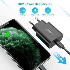 "Image 3 - CHOETECH USB סוג C פ""ד מטען 18W עבור iPad iPhone 11 פרו מהיר תשלום 4.0 QC 3.0 מהיר קיר מטען עבור huawei סמסונג xiaomi"