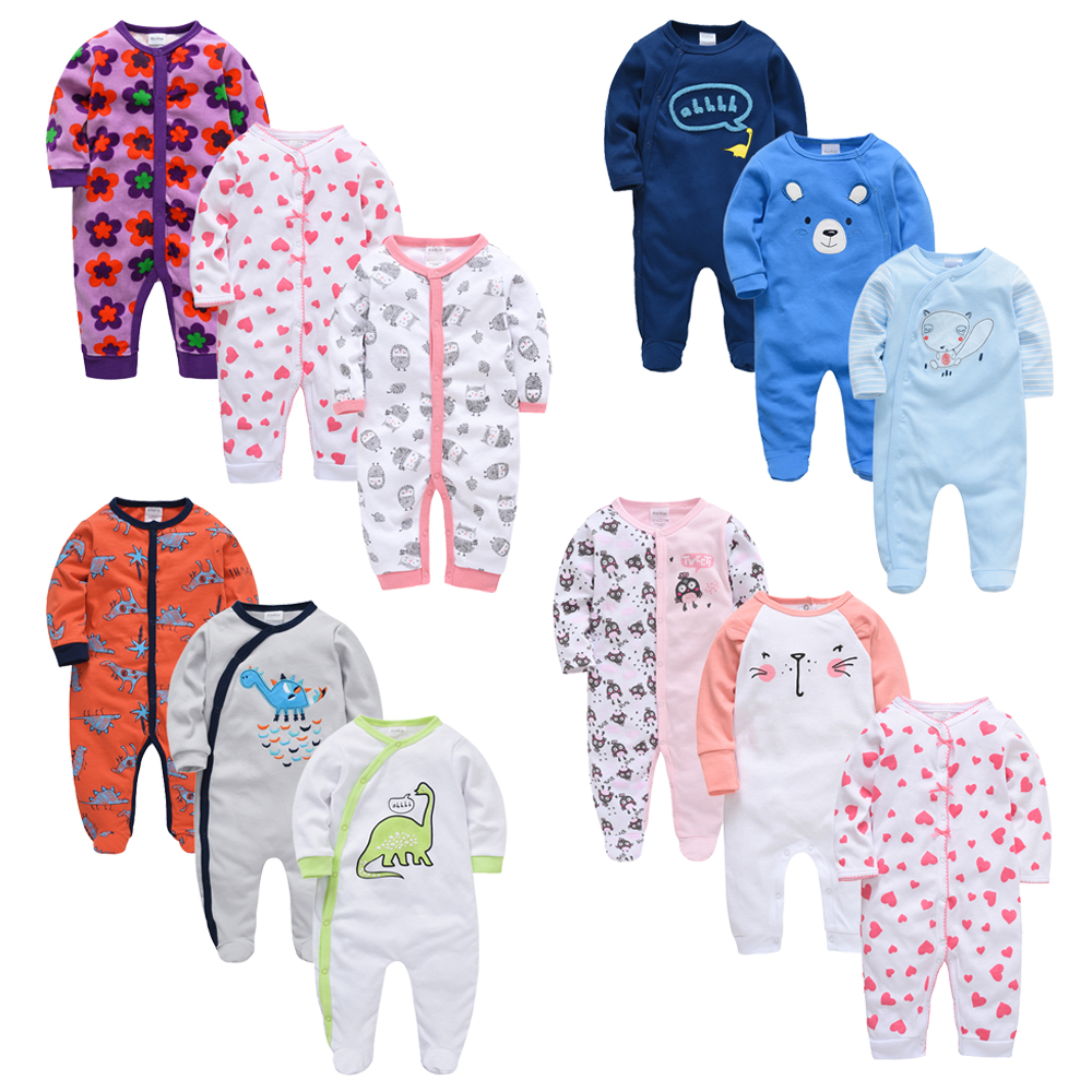 Honeyzone Baby Girl Clothes 2019 Spring Newborn Romper Cotton Full Sleeve Ropa Bebe Baby Girl Boy Clothing Infant Jumpsuits