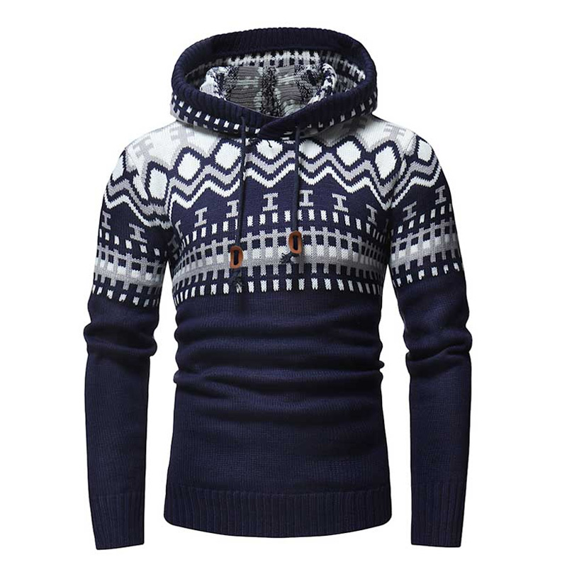 2018 Autumn Winter Sweater Pullover Men Brand Stitching Casual Slim Sweaters Male Warm Thick Hedging Turtleneck Sweater XXL