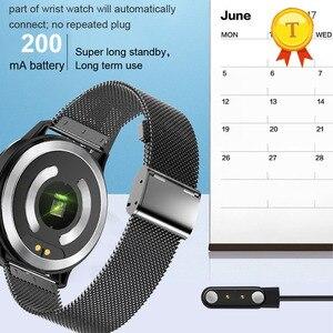 Image 5 - أفضل بيع ecg ppg smartwatch الرجال النساء IP68 وريستباند ضد الماء relogio معدل ضربات القلب النوم مراقبة الرياضة ساعة ذكية