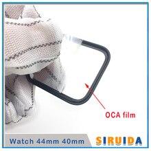 5pcs LCD מסך חיצוני זכוכית עם OCA דבק עבור אפל אני שעון סדרת S4 S1 S2 S3 40mm 44mm לוח מגע עדשת החלפת חלקים