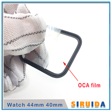 5pcs LCD Screen Outer Glass with OCA glue For Apple i watch series S4 S1 S2 S3 40mm 44mm Touch Panel Lens Replacement Parts