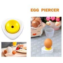 Criativo ovo piercer pricker divisores batedor com bloqueio cozinha artesanato semi-automática cozinha barra de jantar cozinhar ferramentas ovo ferramentas