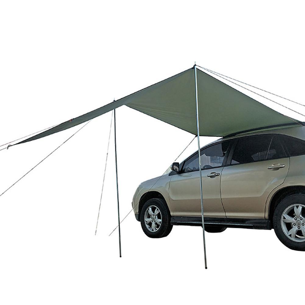 Car Awning Waterproof Car Shade Sunshade Garden Beach Umbrella Travel Camping Tent Tarp Automobile Side Rooftop