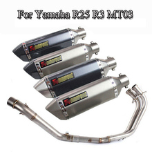 Slip On Motorcycle Exhaust System Muffler Front Link Pipe Stainless Steel Exhaust Muffler Pipe for Yamaha R3 R25 Modified Escape