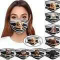 Маска на рот для взрослых мужчин женщин мужчин моющаяся маска на рот с принтом собаки многоразовая маска для лица дышащая маска
