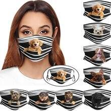 Adulto homem mulher boca máscara caps lavável cães impressão tecido máscara boca reutilizável máscara facial respirável mondmasker mascarillas