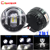 Cawanerl For Ford Focus Fiesta Mustang Explorer Fusion C Max Ranger Falcon Car Styling LED Fog Light DRL Daytime Running Lamp