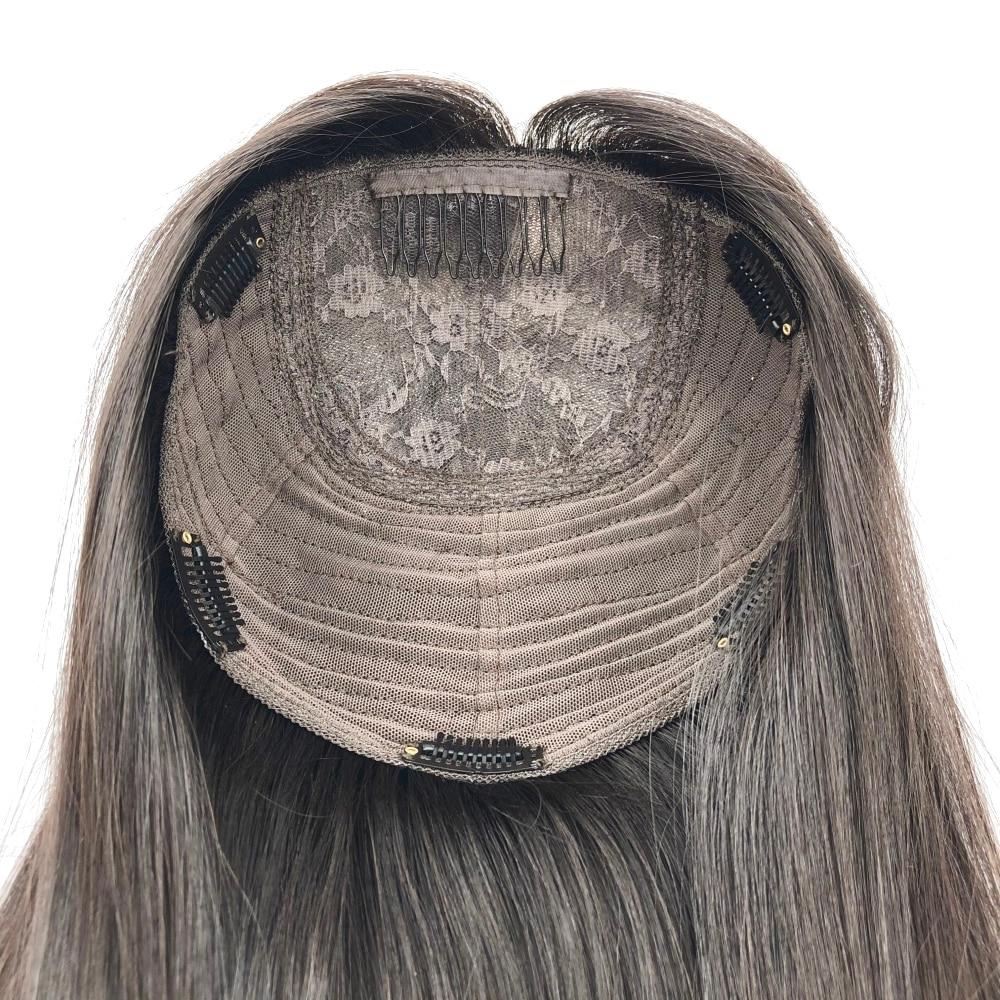 Cor marrom europeu cabelo humano judeu topper