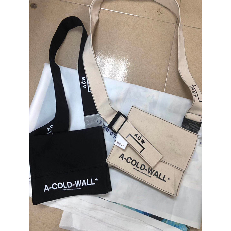 2020ss 1:1 Best Quality A-COLD-WALL Canvas Shoulder Bag Crossbody Messenger Bag ACW Multi Pocket Tactical Bag