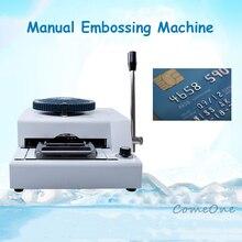 Codice convesso stampante pressione codice macchina di codice macchina VIP membership card macchina da scrivere manuale del PVC macchina di goffratura