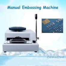 Impressora de código convexo máquina de código de pressão máquina de código vip cartão de associação máquina de escrever pvc manual gravação