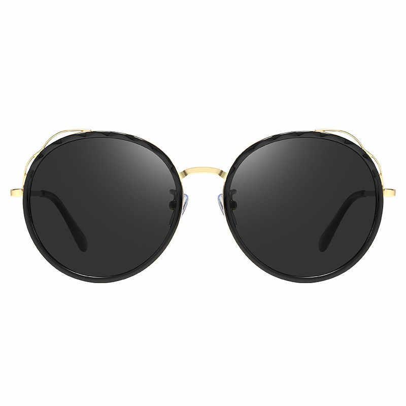 Ellen Buty Liga de Design Da Marca de Moda Óculos De Sol Das Mulheres Rodada Polarizada Motorista Óculos De Sol Condução Espelho Gradiente Óculos Senhoras