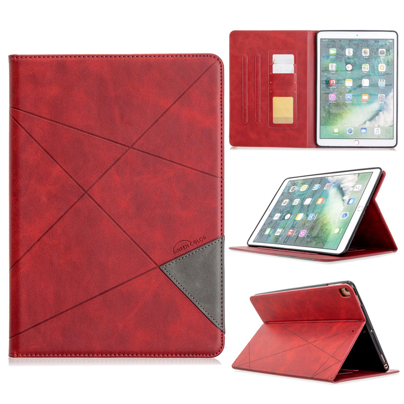 red Green Luxury Flip PU Leather Tablet Case For iPad 10 2 2019 Wallet Stand Funda For iPad