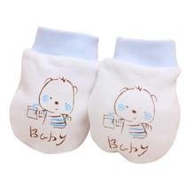 1 пара перчаток из чистого хлопка для новорожденных и детей с героями мультфильмов, защитные перчатки для лица, дышащие рукавицы с защитой от царапин, теплые зимние перчатки