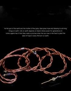 Image 4 - Gieftu Hakugei Aarde God Diy Enkele Kabel 513 Cores 18 Awg Litz 7Nocc 4 Lijnen Gevlochten Totaal 2052 cores Oortelefoon Upgrade Kabel