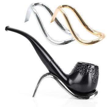 Soporte plegable pipa de fumar ABS moda negro soporte de escritorio soporte 1 pieza nuevos accesorios para tabaco