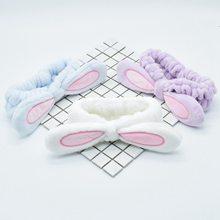 Мягкая эластичная лента для волос с кроличьими ушками из хлопка