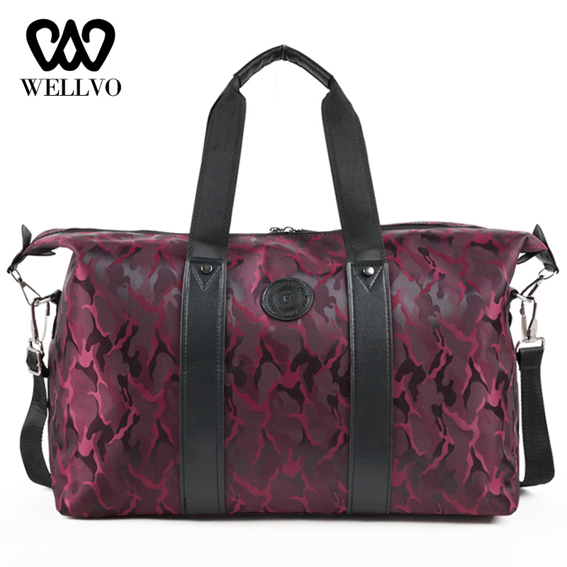 New Nylon Carry On Travel Bag Men Hand Fitness Travel Duffle Bags Large Weekend Bags Women Multifunctional Traveling Bag XA718WB