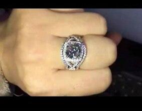 Индивидуальные предметы, классическое кольцо 3 карат муассанит, украшение на подушку, обручальное кольцо, обручальное кольцо 585