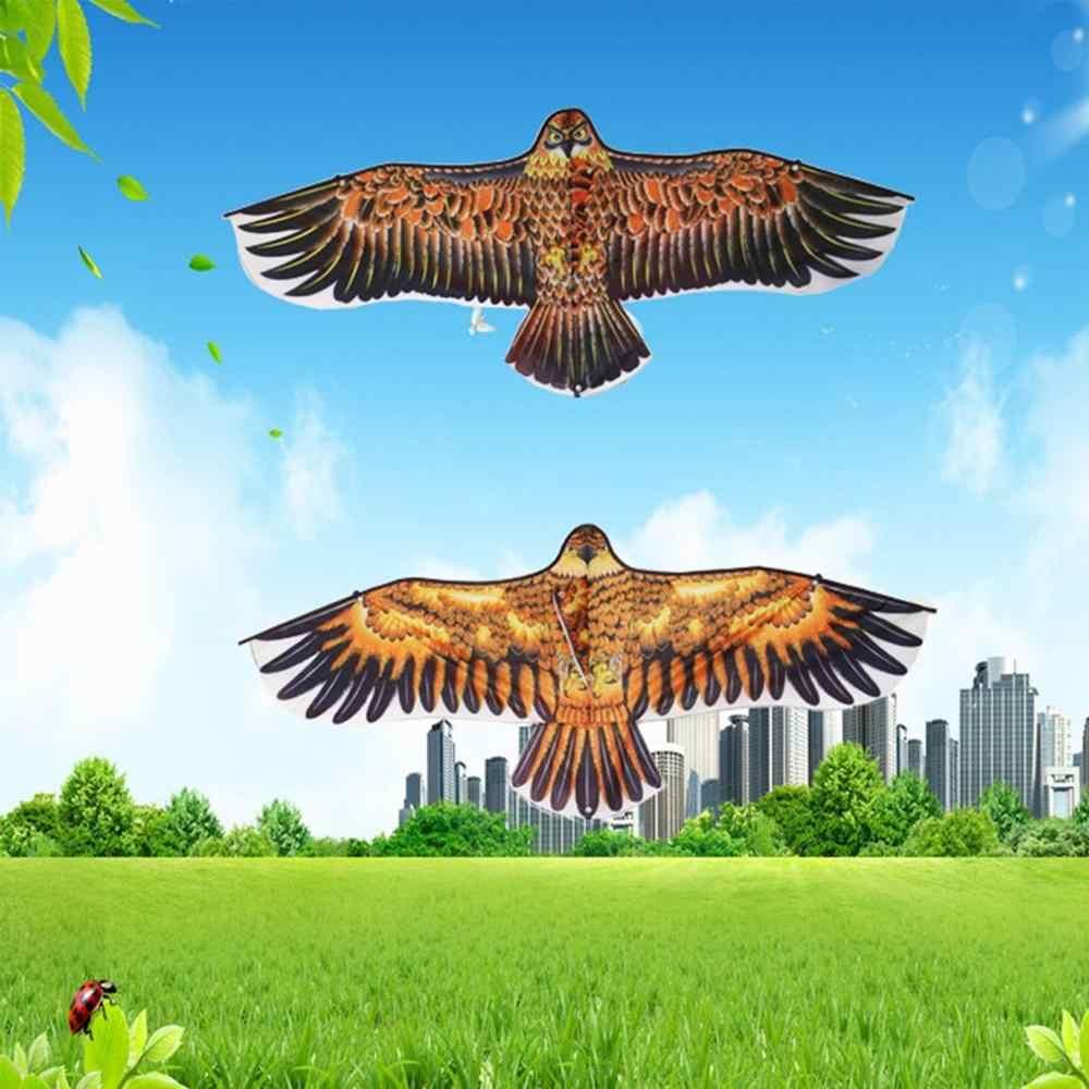 Mainan Baru 1.1 M Besar Eagle Kite Elang Baru Layang-layang Terbang Kontrol Yang Mudah Acara Keluarga Permainan Luar Ruangan Olahraga untuk Anak-anak terbaik Hadiah