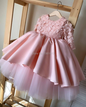 Girls Dresses Summer Kids Princess Dress O-neck Ball Gown Kids Clothes Open Back Toddler Girl Children Costume