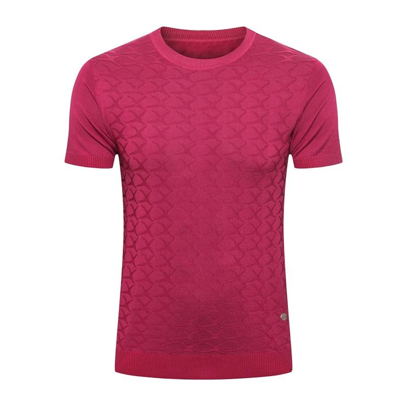 BILLIONAIRE, Мужская шелковая футболка, лето 2020, новинка, тонкая, коммерция, модная, повседневная, с геометрическим узором, высокое качество, для фитнеса, бесплатная доставка - 3