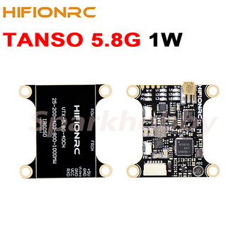 HIFIONRC TANSO 5.8G video transmitter 1000mW/1W High-power 2-6S stable voyage VTX 12V 350mA MMCX Antenna for FPV Racing RC Drone