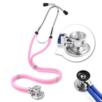 Wielofunkcyjny stetoskop dwugłowicowy kardiologia medyczna stetoskop lekarz profesjonalny phonendoskop lekarz urządzenia medyczne tanie i dobre opinie XceeFit Heart-lung Cardiology Stethoscope heart lung stethoscope professional stethoscope Medical Equipment Medical Device