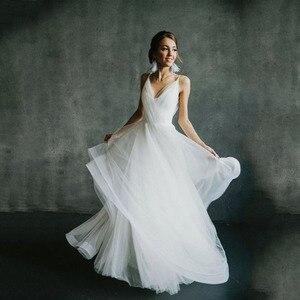 Image 1 - Vestido De novia Bohemia boda sin espalda, elegante, 2019