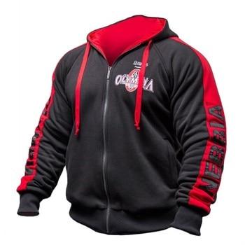 Men Gyms Hoodies Gyms Fitness Bodybuilding Sweatshirt Pullover Sportswear Male Workout Hooded Jacket Clothing 1