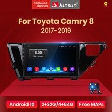Junsun 2G + 32G Android 10 DSP pour Toyota Camry 8 70 2017 2018 2019 autoradio multimédia lecteur vidéo 2020 Navigation GPS 2 din