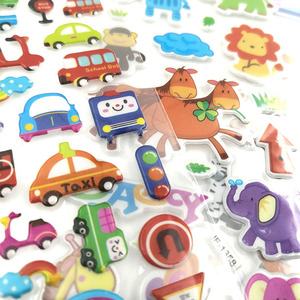 Image 4 - 10Sheets Different 3D Cute Cartoon Stickers Toys Pegatinas Funny Toy For Children On Scrapbook Phone Laptop Gifts Animals Tiger