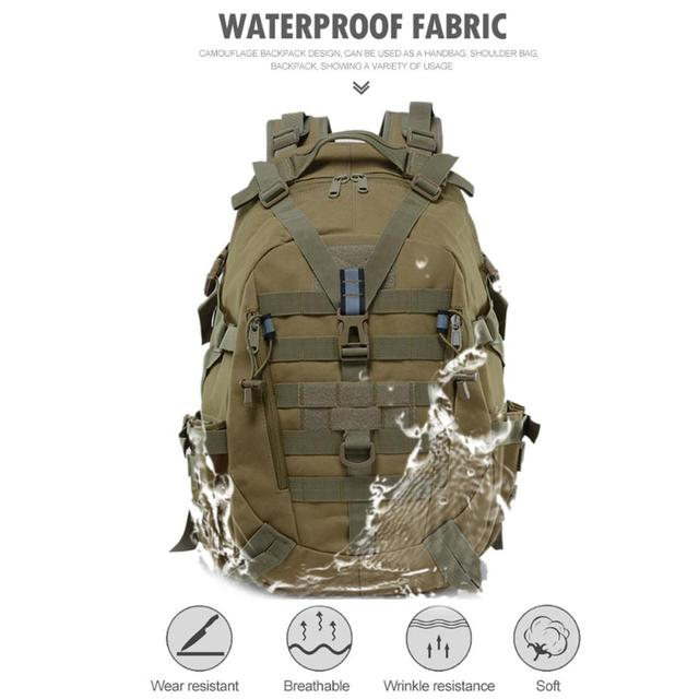 Picnic Hunting Mountaineering Backpack Cycling Bag Field Survival BL075 25L Oxford 900D Encryption Waist Tactical Backpack 1