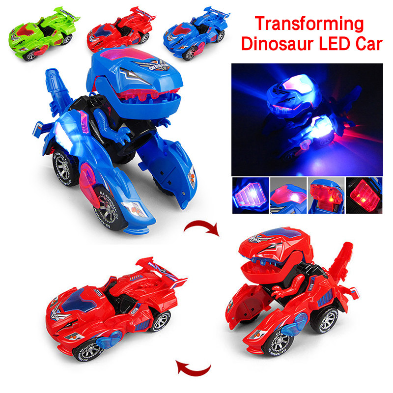 Transformation Robot Toy Car Action Figure Toys ABS Collision Transforming Model Gift Kids Toy Lights Sounds Gift For Children