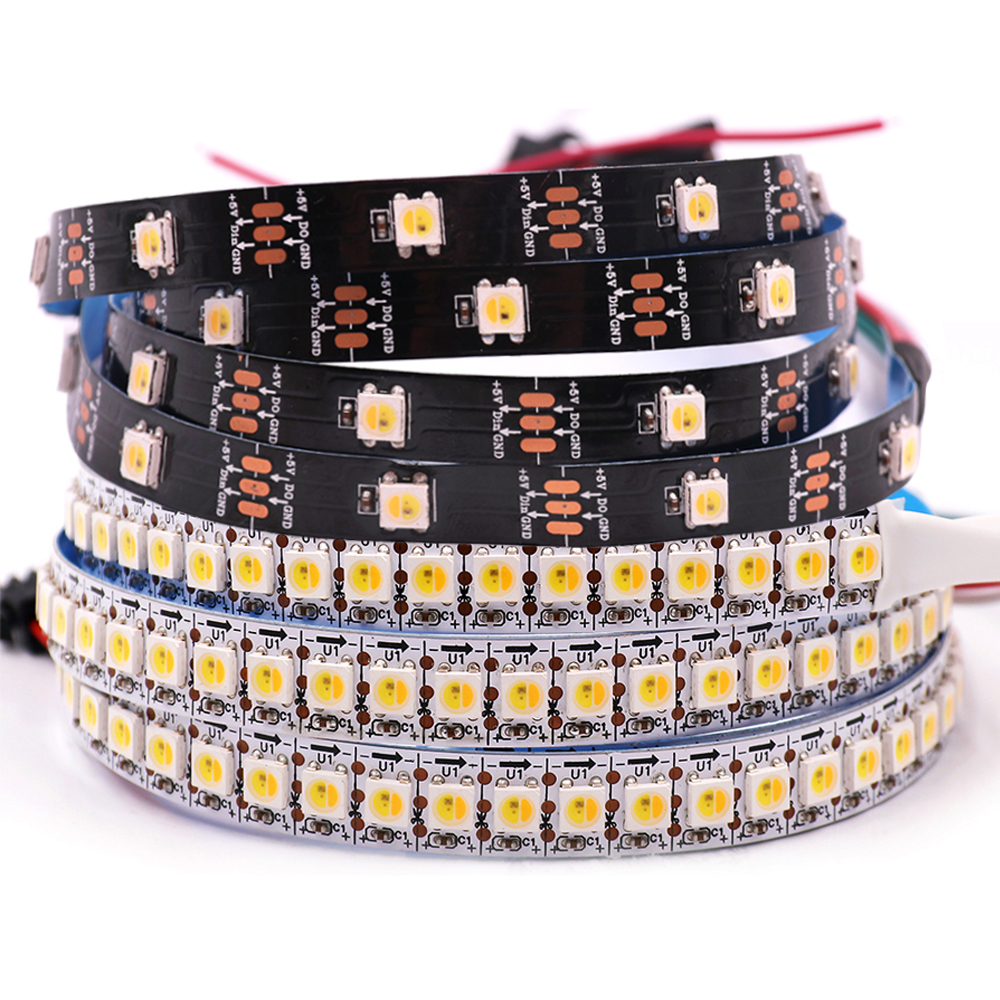 Tira de luces Led direccionable RGBW RGBWW SK6812, Similar a WS2812B SMD 5050, 1m, 2m, 5m, 30, 60, 144 Led, IP30, 65, 67, 5V