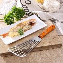 1pc kuchnia rzeczy stek szpatułka z otworami łopata łopatka ryby wielofunkcyjne narzędzia do grillowania ze stali nierdzewnej Drop shipping