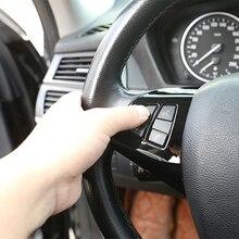 2Pcs Car Accessories Glossy Black ABS Chrome Steering Wheel Button Decorative Frame Cover Trim For BMW X5 E70 X6 E71 2008 2013