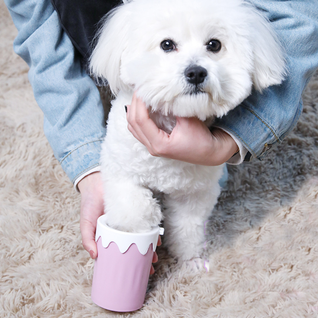New Dog Paw Cleaner Pet Foot Washing Cup Dog Cleaning Supplies for Cat Bath Clean Quickly Wash Dirty Cat Foot Cleaning Bucket in Dog Combs from Home Garden