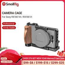 SmallRig RX100 VII jaula de cámara para Sony RX100 VII y RX100 VI Dslr jaula con mango lateral de madera/Zapata fría RX100 VI Cage 2434