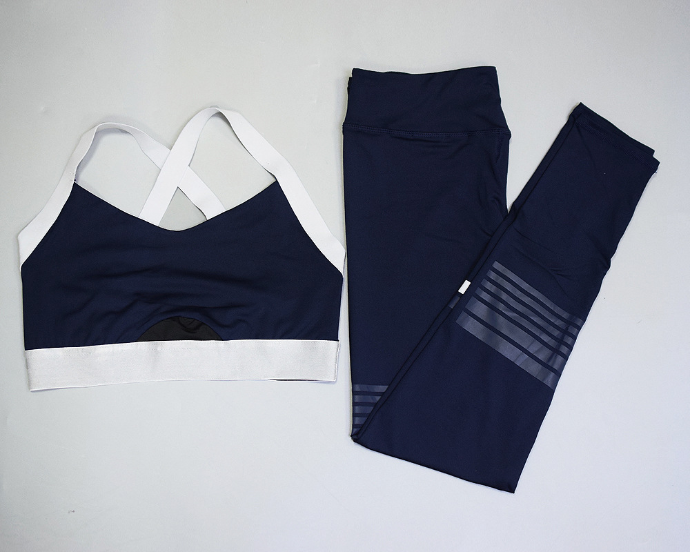Women's Striped Workout Set