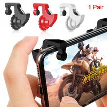 1pair L1 R1  Smart Phone Games Trigger Shooter Controller Fire Button Handle for PUBG / Survival Rules Knives Out