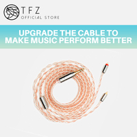 TFZ/ Earphone upgrade wire,TC3.5/4.4mm interface 0.78mm pin universal silver plated single crystal copper, silver foil wire