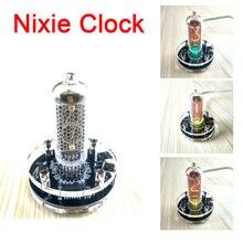 디지털 데스크 Nixie Clock USB 미니 빈티지 싱글 IN 8 / IN 8 2 글로우 튜브 클럭 RGB 백라이트가있는 170v 부스트 모듈 내장
