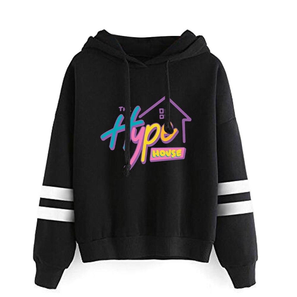 New 2020 The Hype House Hoodies Women/men Print Charli D'Amelio Hoodie Hand Sleeve Addison Rae Sweatshirt Unisex Tracksuit