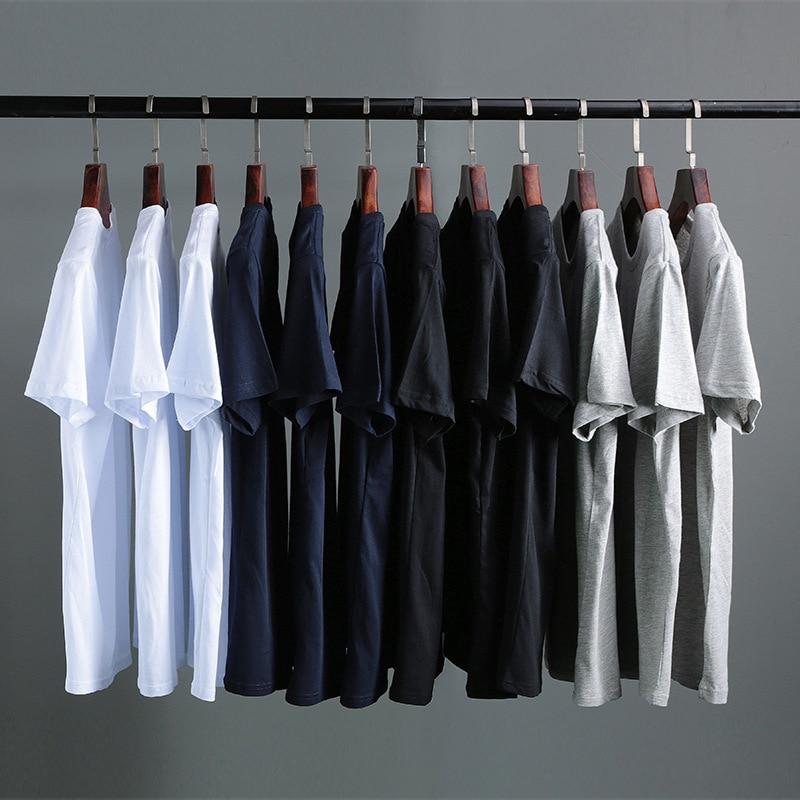 2020 Hot Selling Men's T-shirt Short Sleeve Summer Loose Solid Color Base Coat