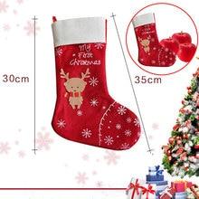 Red Ornament Sock Bag Gift Xmas Decoration Xmas Sock White Christmas Deer Holiday
